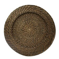 Rattan Charger Plate in Brown