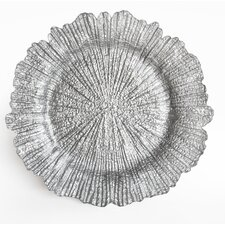 "13.5"" Reef Textured Glass Charger Plate"