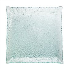 "Aqua 15.75"" Square Platter"
