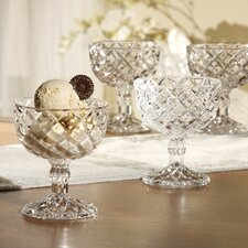 <strong>Fifth Avenue Crystal</strong> Muirfield Pedestal Cups (Set of 4)