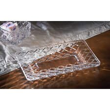 3 Piece Muirfield Crystal Rectangular Serving Set