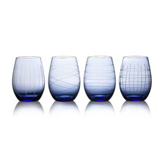 4 Piece Jameston Stemless Wine Glass Set