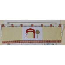 Fire Truck Cotton Blend Curtain Valance