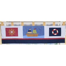 <strong>Geenny</strong> Baby Boy Sailor Cotton Blend Tab Top Tailored Curtain Valance