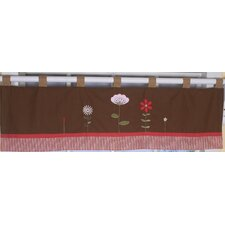 Ladybug Flower Cotton Blend Curtain Valance