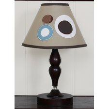 Lamp Shade - Scribble Blue / Brown