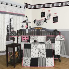 <strong>Geenny</strong> Boutique Flower and Dot 13 Piece Crib Bedding Set