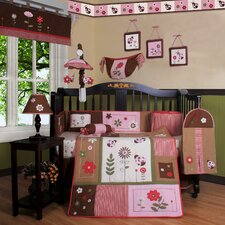 <strong>Geenny</strong> Boutique Ladybug Flower 13 Piece Crib Bedding Set