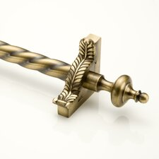 "Grand Dynasty 36"" Roped Tubular Stair Rod Set with Decorative Brackets Grand Urn Finials"