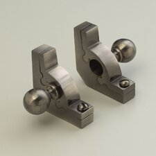 """Sovereign 28.5"""" Tubular Stair Rod Set with Smooth Brackets Ball Finials"""
