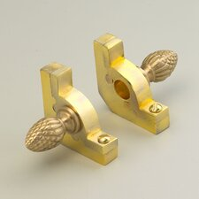 """Sovereign 36"""" Tubular Stair Rod Set with Decorative Brackets Pineapple Finials"""