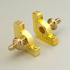 """Sovereign 36"""" Tubular Stair Rod Set with Smooth Brackets Urn Finials"""