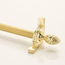 "<strong>Zoroufy</strong> Stair Jewel 120"" Fluted Tubular Stair Rod Set with Decorative Brackets Pineapple Finials"