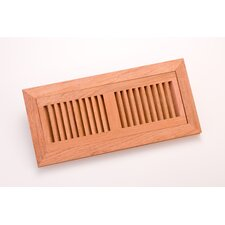 "12.5"" x 4.375"" White Oak Flush Mount Vent"