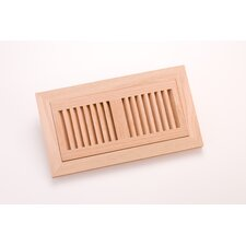 "10.5"" x 4.375"" White Oak Flush Mount Vent"