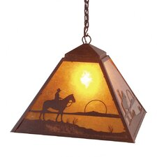 Cowboy Sunset 1 Light Swag Pendant
