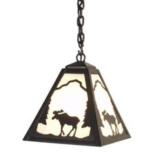 Moose 1 Light Timber Ridge Hanging Lantern