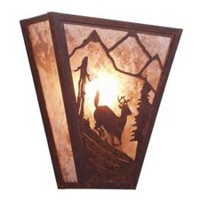 <strong>Steel Partners</strong> Deer Vegas 1 Light Wall Sconce