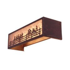 On the Fence 4 Light Vanity Light Wall Sconce