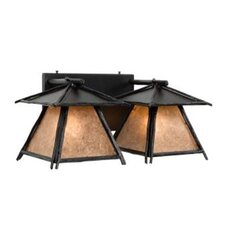 <strong>Steel Partners</strong> Sticks Cascade 2 Light Vanity Wall Sconce