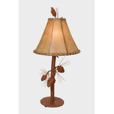 "Saranac 27"" H Table Lamp with Bell Shade"