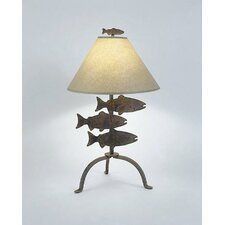 "Fish 26"" H Table Lamp with Empire Shade"