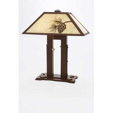 "Mission Double 18"" H Table Lamp with Rectangle Shade"