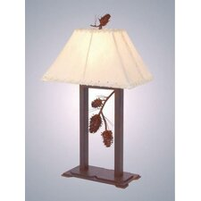 "Ponderosa Pine 28"" H Table Lamp with Rectangle Shade"