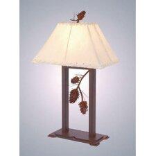 "Ponderosa Pine 28"" H Table Lamp with Rectangular Shade"