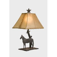 """Horse Copper Trails 22"""" H Table Lamp with Rectangle Shade"""