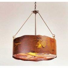 Pinecone 3 Light Drum Pendant