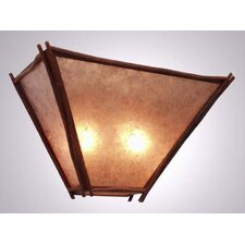 Sticks 2 Light Tapered Wall Sconce