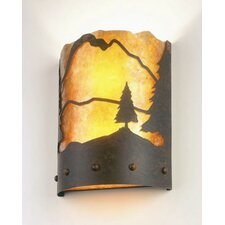 <strong>Steel Partners</strong> Timber Ridge 1 Light Wall Sconce