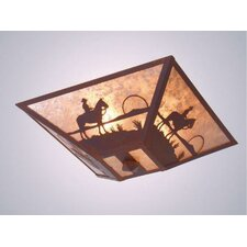 Cowboy Sunset Drop Ceiling Mount