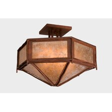 Sticks Hexagon Drop Semi Flush Mount