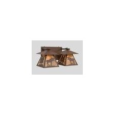 Moose Cascade Double Vanity Light Wall Sconce