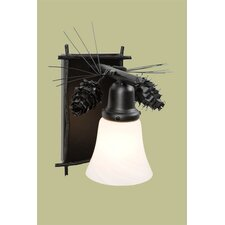 <strong>Steel Partners</strong> Ponderosa Pine Glacier 1 Light Wall Sconce