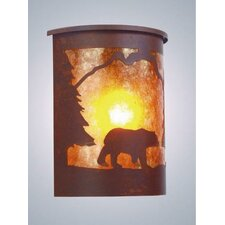 Bear 1 Light Outdoor Wall Lantern