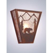 Bear Vegas 1 Light Wall Sconce