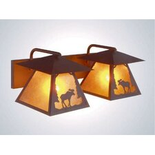 Moose Twin Prairie Vanity Light Wall Sconce