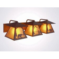 Bear Twin Prairie 3 Light Vanity Light