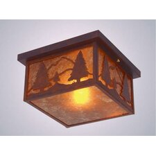 Timber Ridge Squaroka Flush Mount