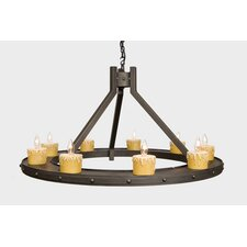 <strong>Steel Partners</strong> Rivets 9 Light Candle Steel Creek Chandelier