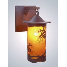 Pinecone 1 Light Outdoor Hanging Wall Lantern