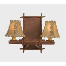 Bundle of Sticks 2 Light Double Light Wall Sconce