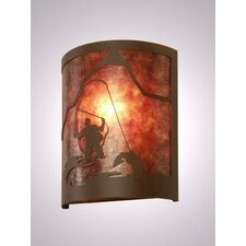 Fly Fisherman Timber Ridge 1 Light Wall Sconce