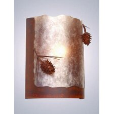 Ponderosa Pine Timber Ridge 1 Light Wall Sconce