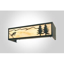 Downhill Skier 4 Light Vanity Light Wall Sconce