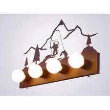 Fly Fisherman 4 Light Flat Vanity Light
