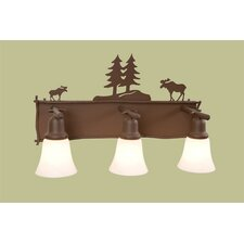 Moose Glacier 3 Light Vanity Light